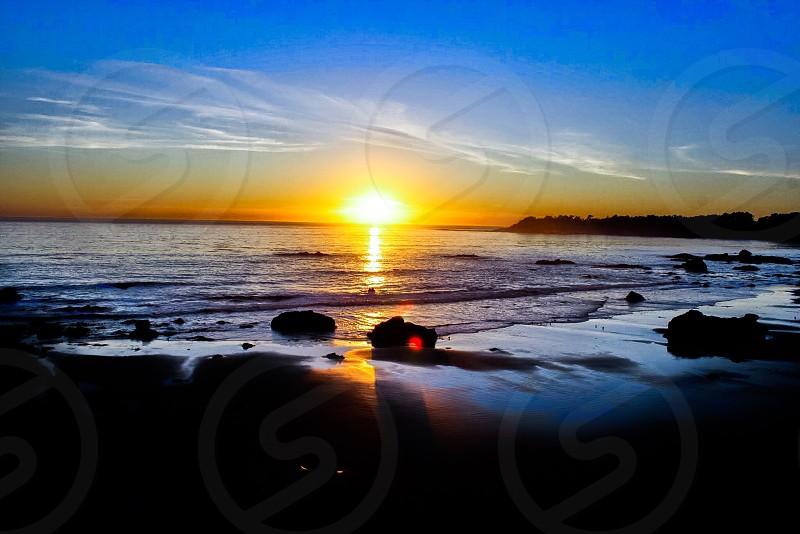 Sunset beach. photo