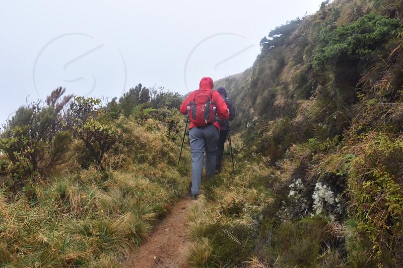 Hiking on Pico da Vara Azores Portugal photo
