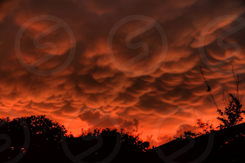 red clouds view photo