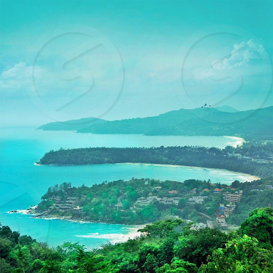 Sea landscape green travel tropical photo