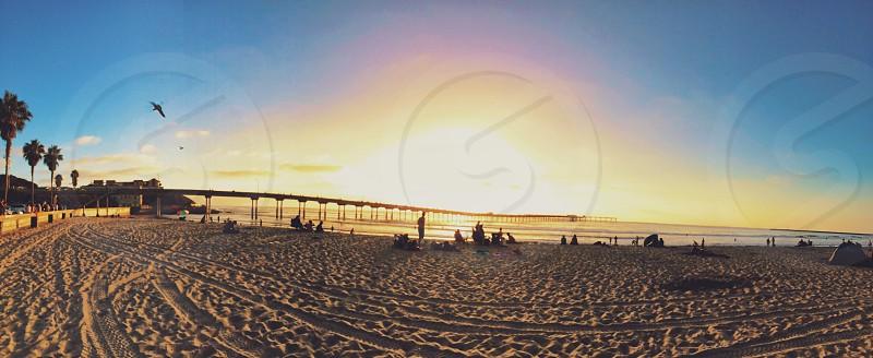 Ocean beach pier  photo
