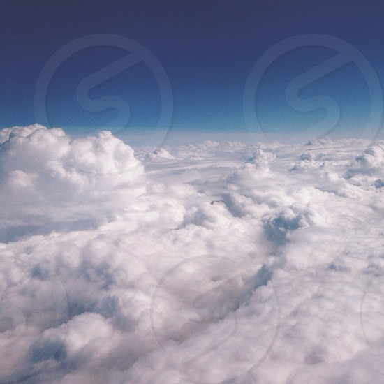view of clouds from the sky photo