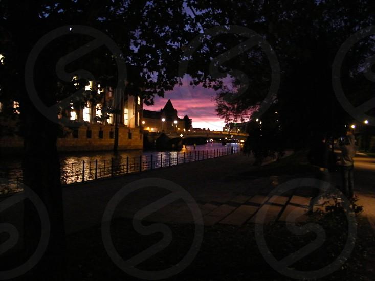 Spree River At Night Berlin photo