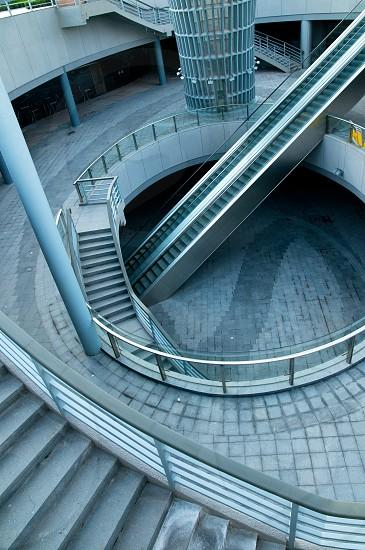 Shanghai new bund puxi architectural dettail view of staircase  photo