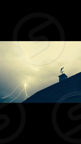 During a lightening storm...I was trying soo hard to get this photo...over an hour of steadily snapping shots!! photo