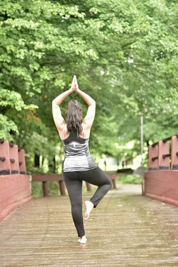 Fitness lifestyle challenge yoga photo
