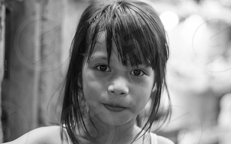 B&W Girl Portrait photo