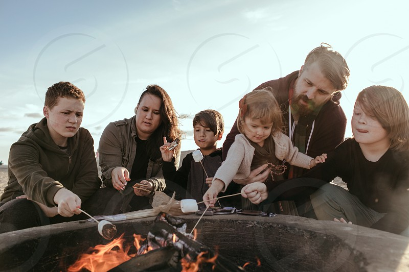 Bone fire family smores  photo