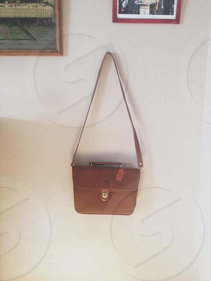 leather coach purse // today's thrifting steal photo