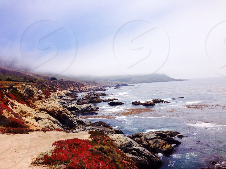 Coast spring California warm colorful water  photo