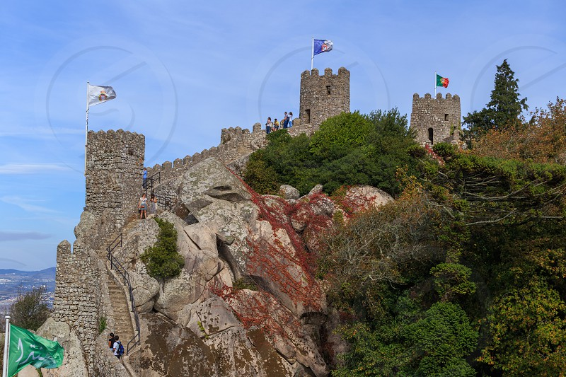 Castle of the Moors in Sintra Portugal photo