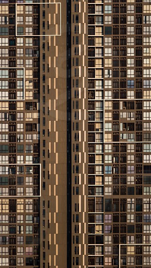 The vertical living in big city photo