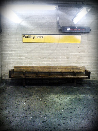 Bench in Parkchester Subway Station. Bronx NYC photo