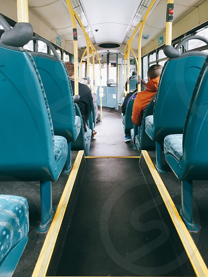 group of people riding on bus photo