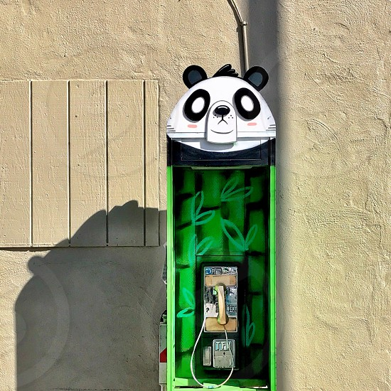 Panda payphone streetart Ekke  photo