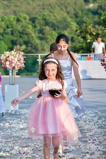 Flower wedding girl celebration  photo