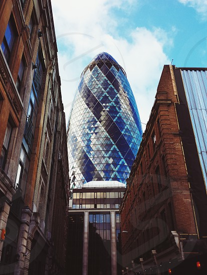 The Gherkin on a sunny day in London. photo