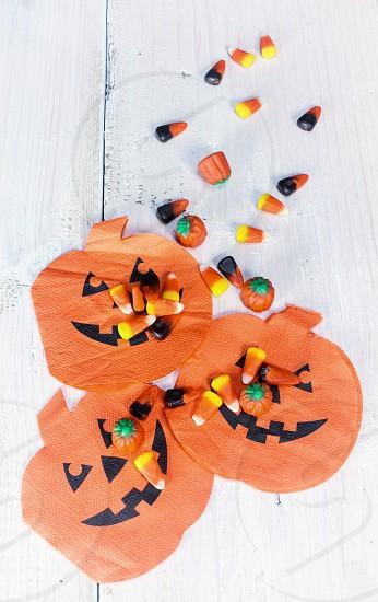 Halloween tick or treat candy candy corn pumpkin jack o lantern fall holiday photo
