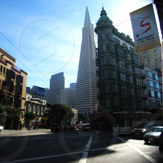 san francisco columbus street architecture old new iconic icon tourist  photo