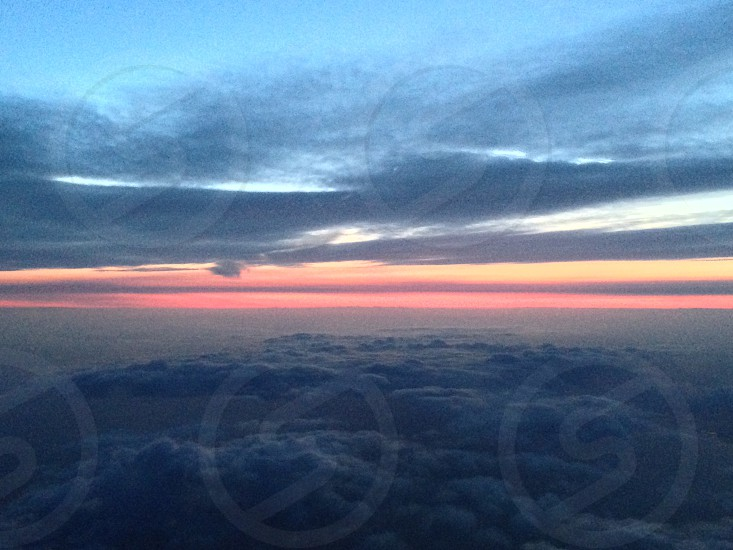 Sunset from the flight deck  photo