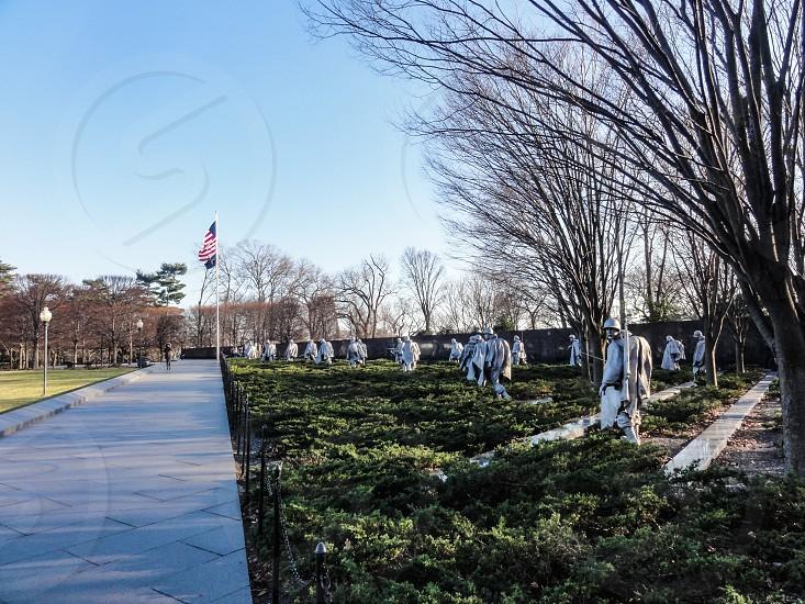 Korean War Veterans Memorial - Washington DC USA photo