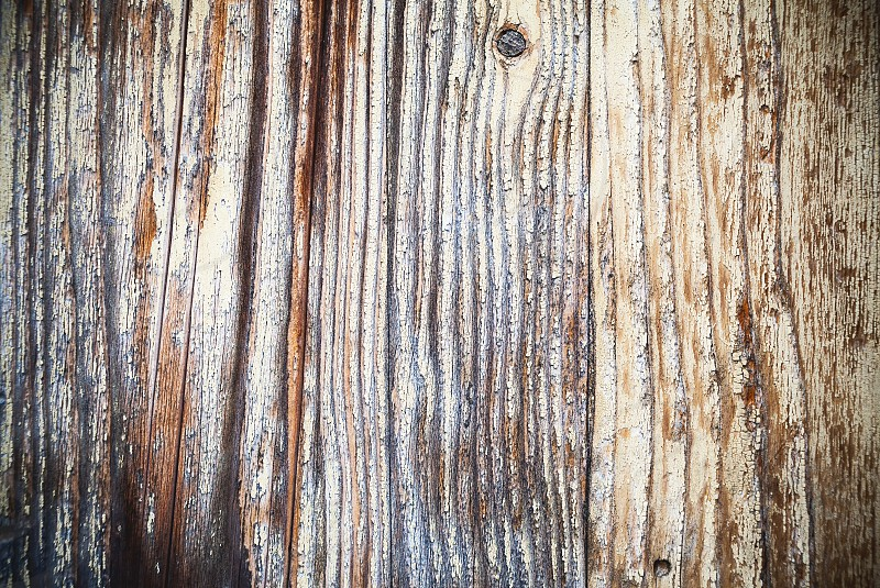 Textures of an old wooden wall closeup view.  photo
