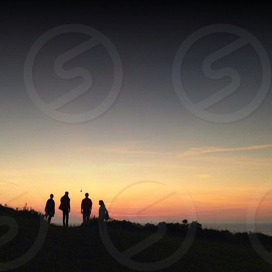 men's silhouette photography photo