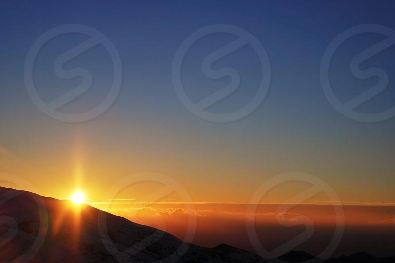 Sunset Landscape from Sierra Nevada Spain photo