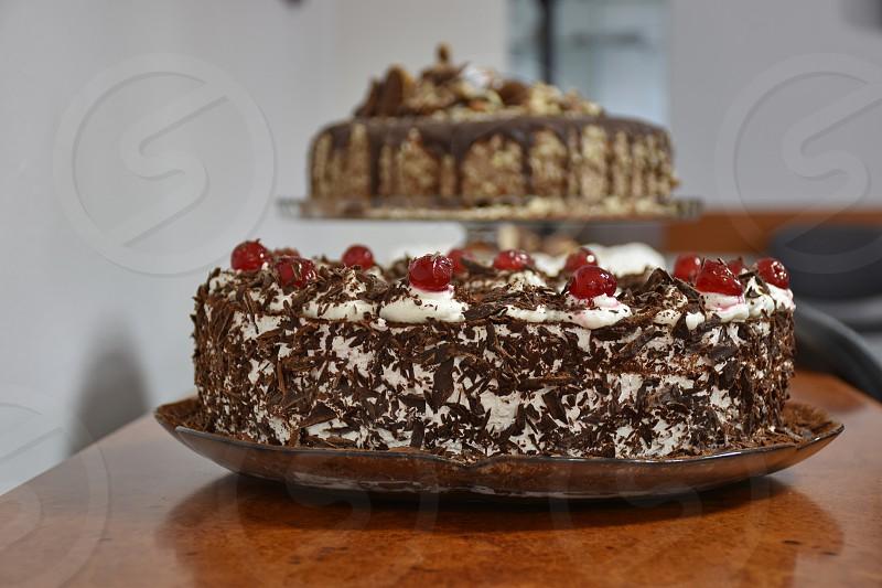 Closeup of the cake photo