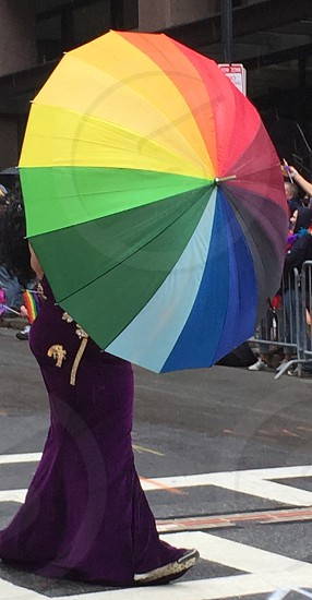Gay pride umbrella lesbian lgbtq parade photo