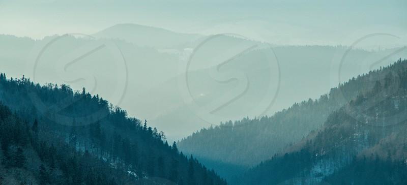 A cold morning in High Tatras Slovakia. photo