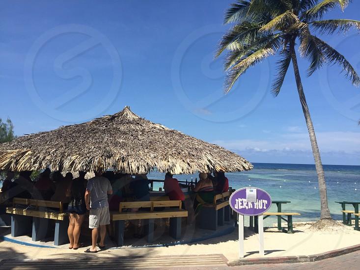 Jamaicajerk hit beach photo