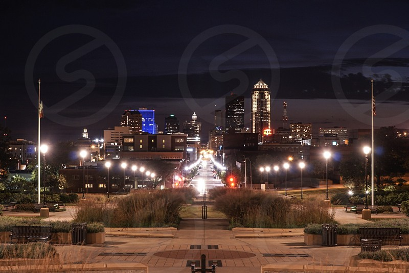 Des Moines Iowa city  photo