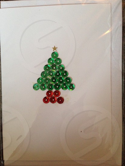 Sequin Christmas tree photo