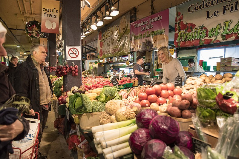 Shopping at the local market. photo
