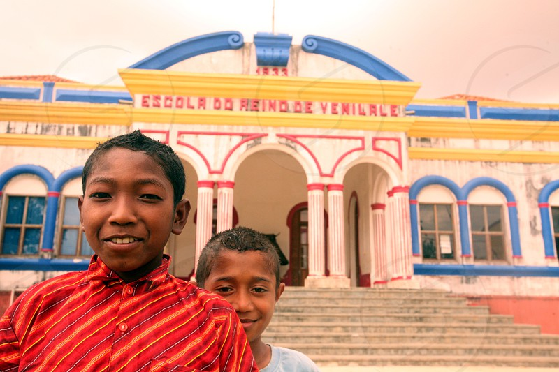 the colonial school in the town of Viqueque in the south of East Timor in southeastasia.
