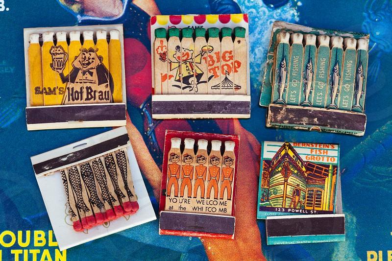 Vintage matchbooks  photo