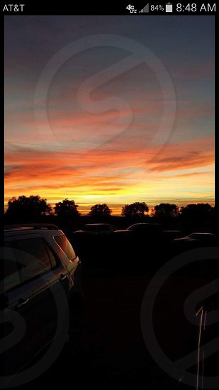 Sunset in East Bernard Texas photo