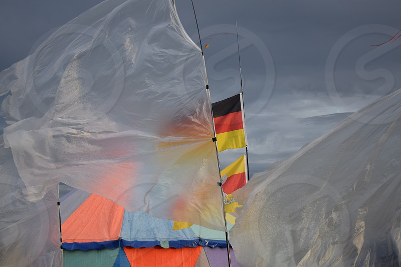 German flag on wind photo