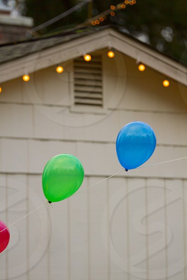 colorful balloons light party photo