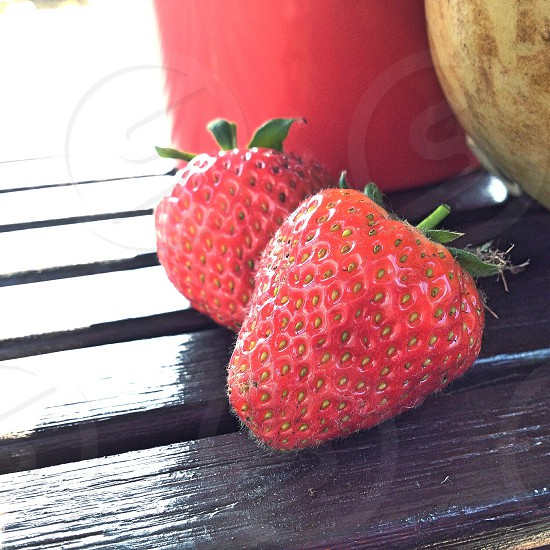 2 strawberries photo