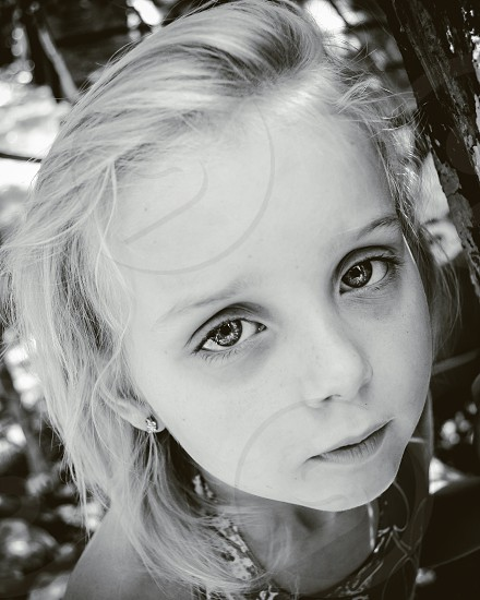 Young girl eyes  photo