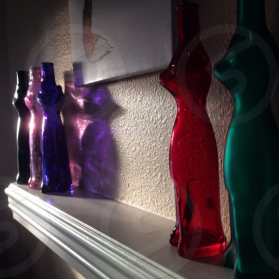 view of red animal shape bottle display photo
