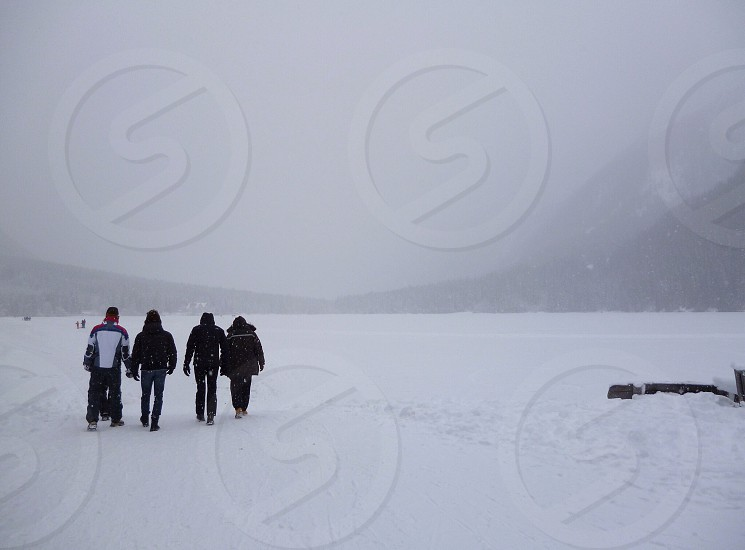 Iced lake of Anterselva photo