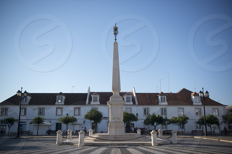 the parca do Marques de Pombal at the old Town of Vila Real de Santo Antonio at the east Algarve in the south of Portugal in Europe. photo