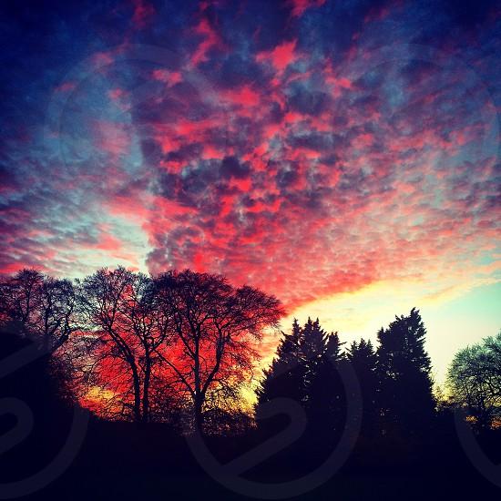 Sun setting. photo