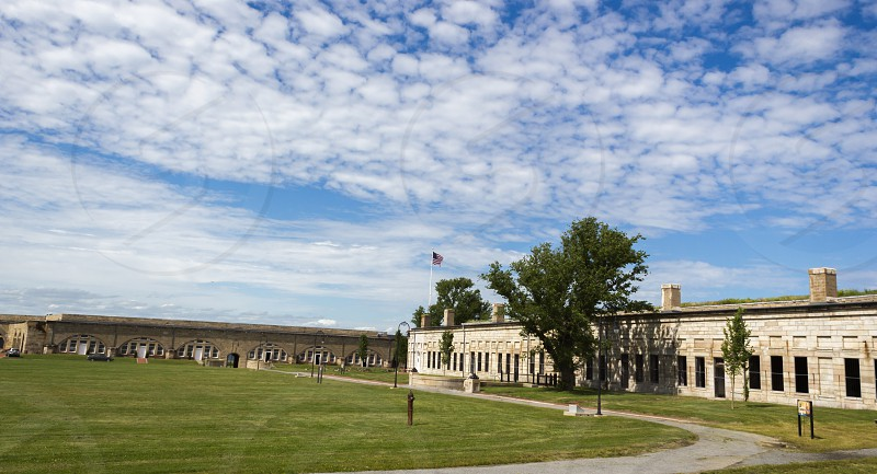 Fort Adams State Park Newport Rhode Island interview view of buildings and parade ground photo