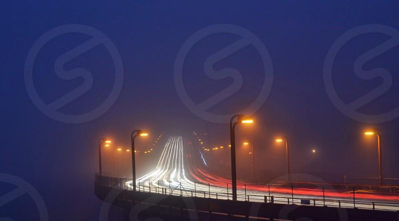 Foggy Golden Gate Bridge San Francisco California @ Dusk photo