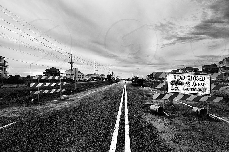 Outer banks hurricane road closed natural disaster North Carolina obx photo