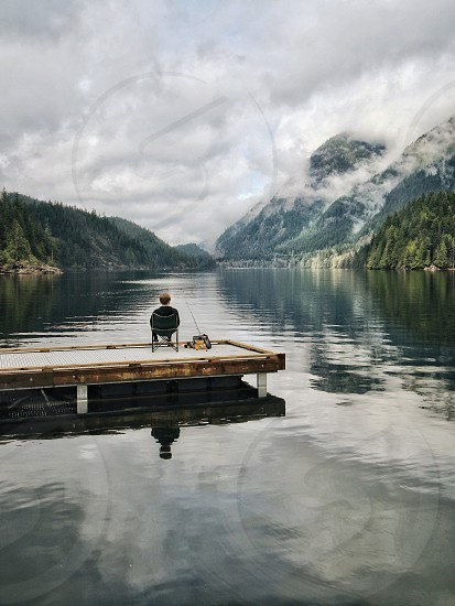 Relaxing meditation nature rest photo